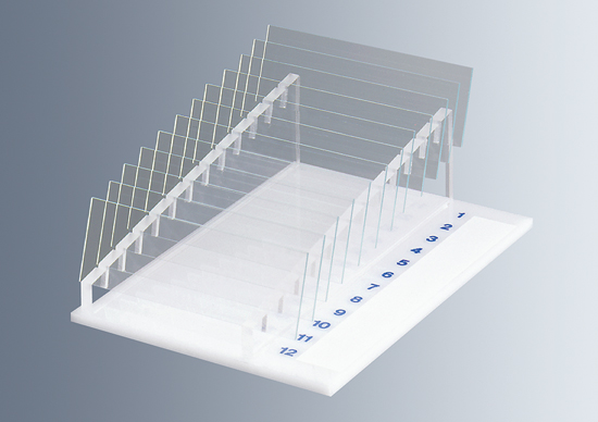 Racks for microscope slides