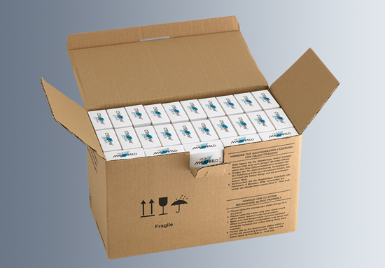 Carton containing 50 boxes of 50 slides